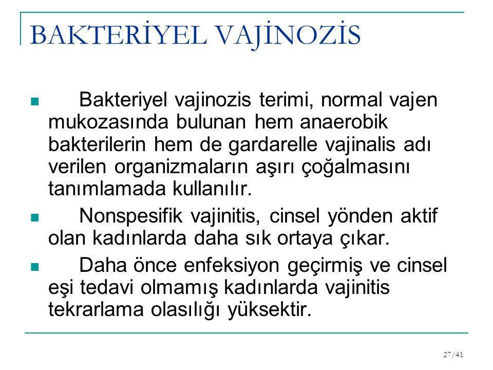 BAKTERİYEL VAJİNOZİS
