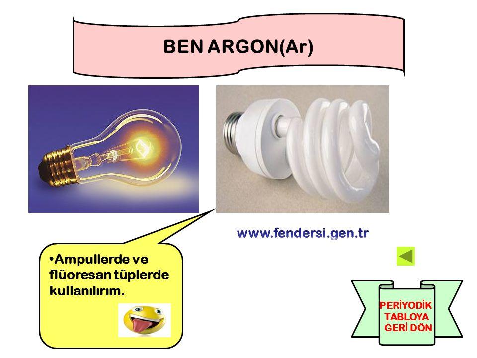 BEN ARGON(Ar) www.fendersi.gen.tr