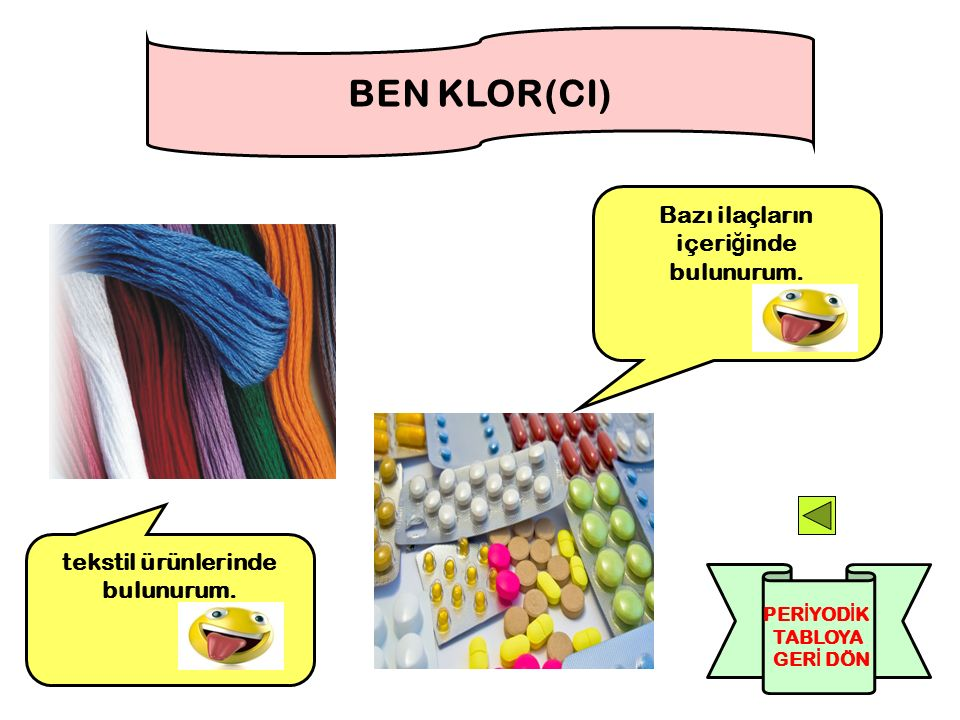 Bazı ilaçların içeriğinde bulunurum. tekstil ürünlerinde bulunurum.