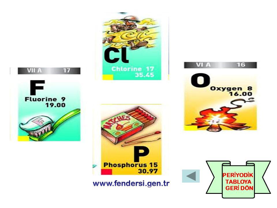 PERİYODİK TABLOYA GERİ DÖN www.fendersi.gen.tr
