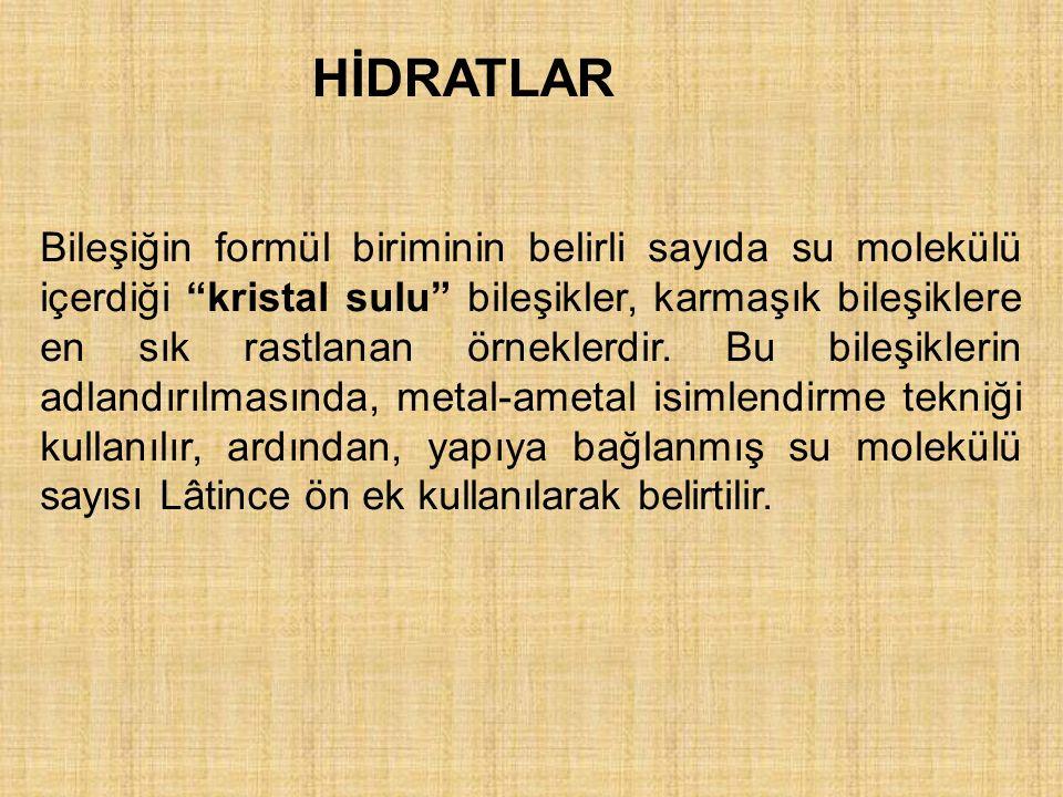 HİDRATLAR