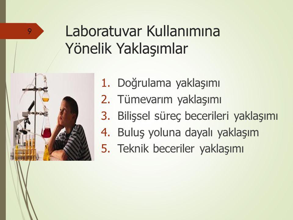 Laboratuvar Kullanımına Yönelik Yaklaşımlar