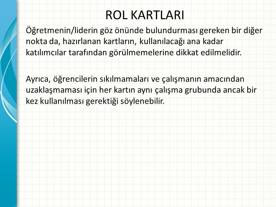 ROL KARTLARI