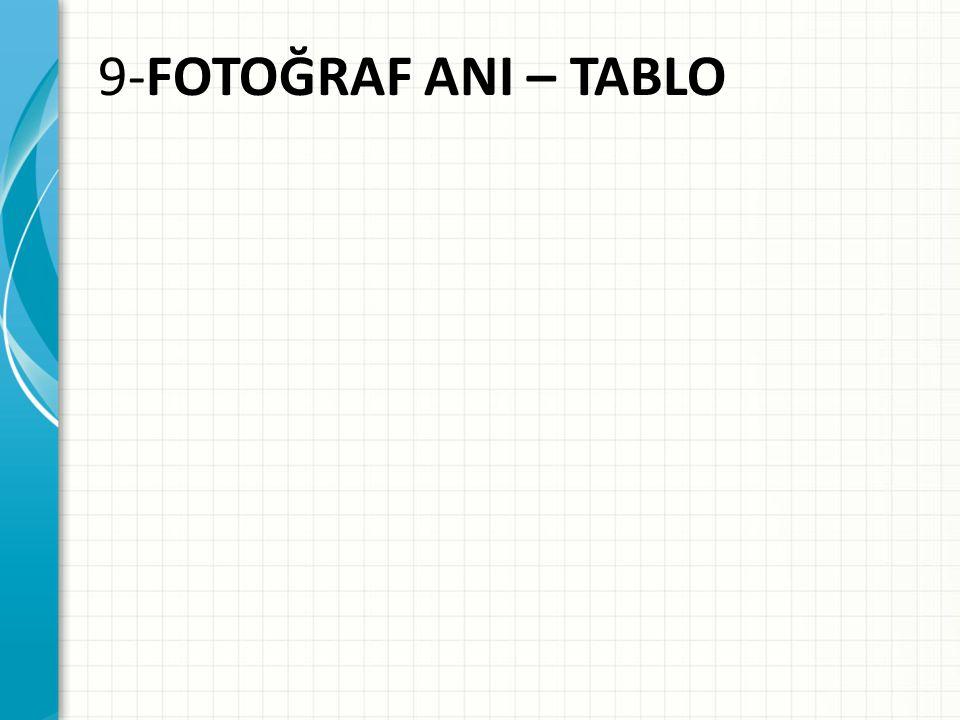 9-FOTOĞRAF ANI – TABLO Tartışmayı teşvik etmek veya dersleri uygulamak için örnek olay incelemesi veya sınıf benzetimi ekleyin.