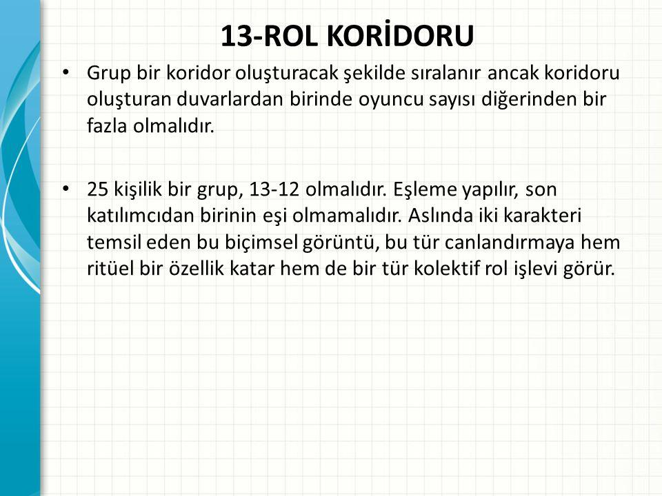 13-ROL KORİDORU