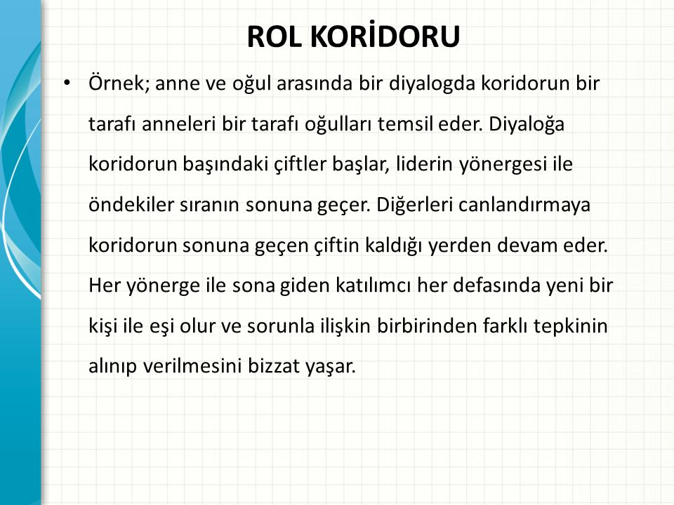 ROL KORİDORU