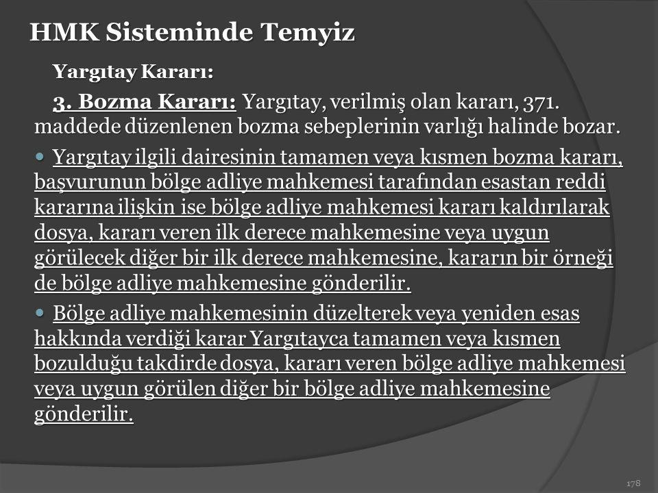 HMK Sisteminde Temyiz Yargıtay Kararı: