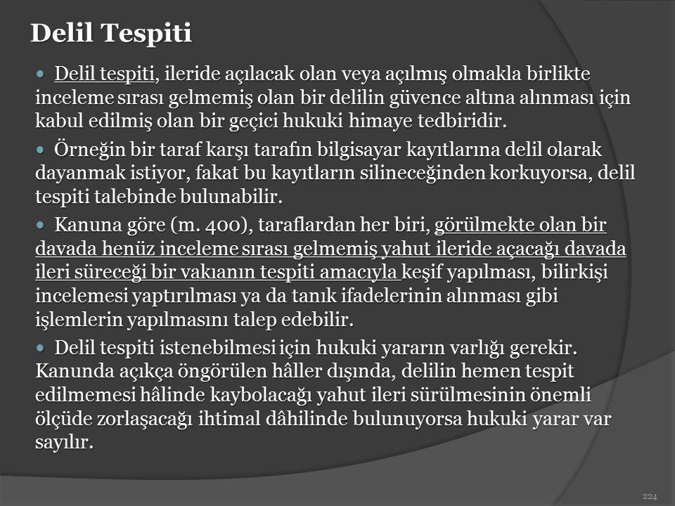 Delil Tespiti