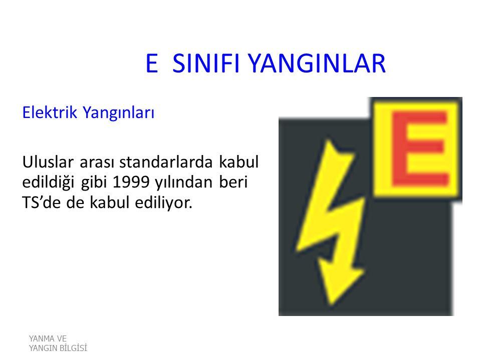 E SINIFI YANGINLAR Elektrik Yangınları