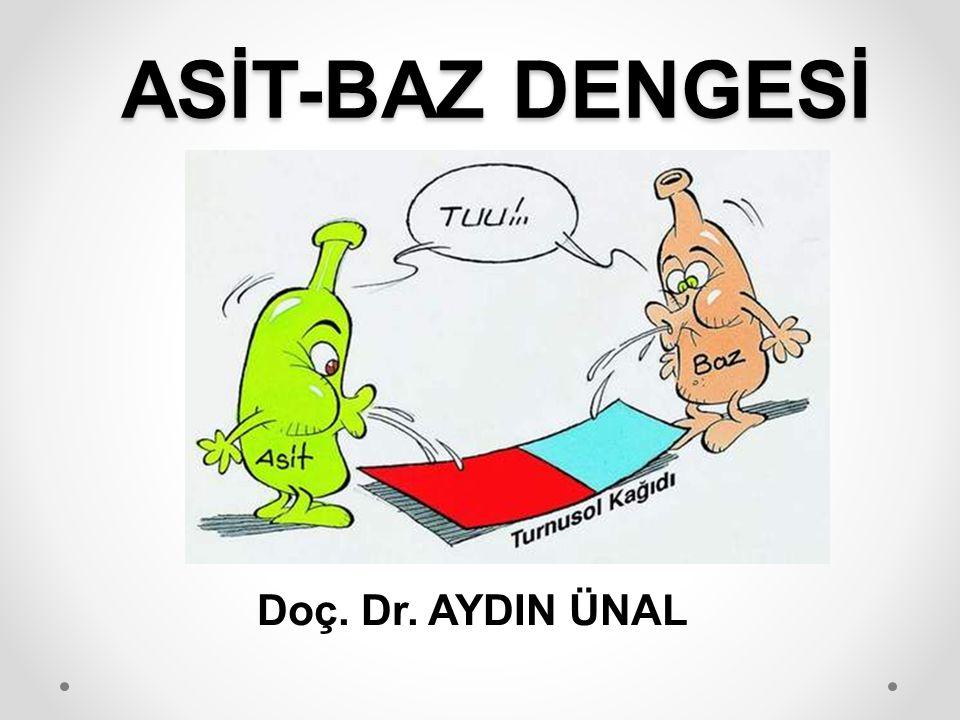 ASİT-BAZ DENGESİ Doç. Dr. AYDIN ÜNAL