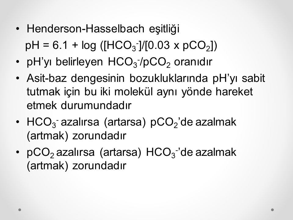 Henderson-Hasselbach eşitliği