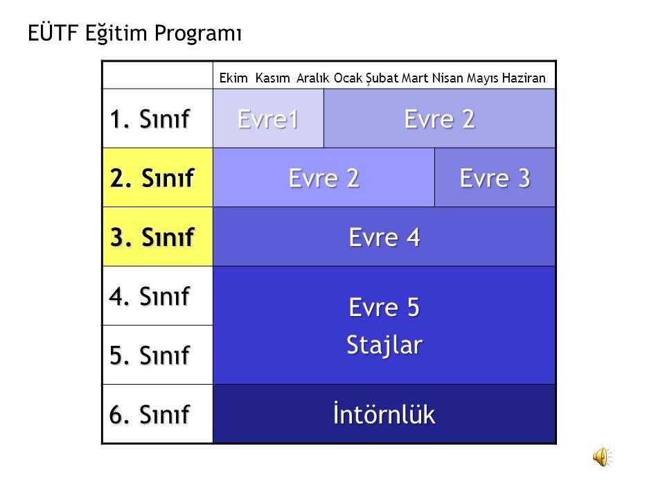 1. Sınıf Evre1 Evre 2 2. Sınıf Evre 3 3. Sınıf Evre 4 4. Sınıf Evre 5
