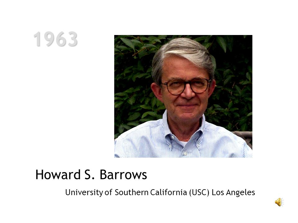 1963 Howard S. Barrows University of Southern California (USC) Los Angeles