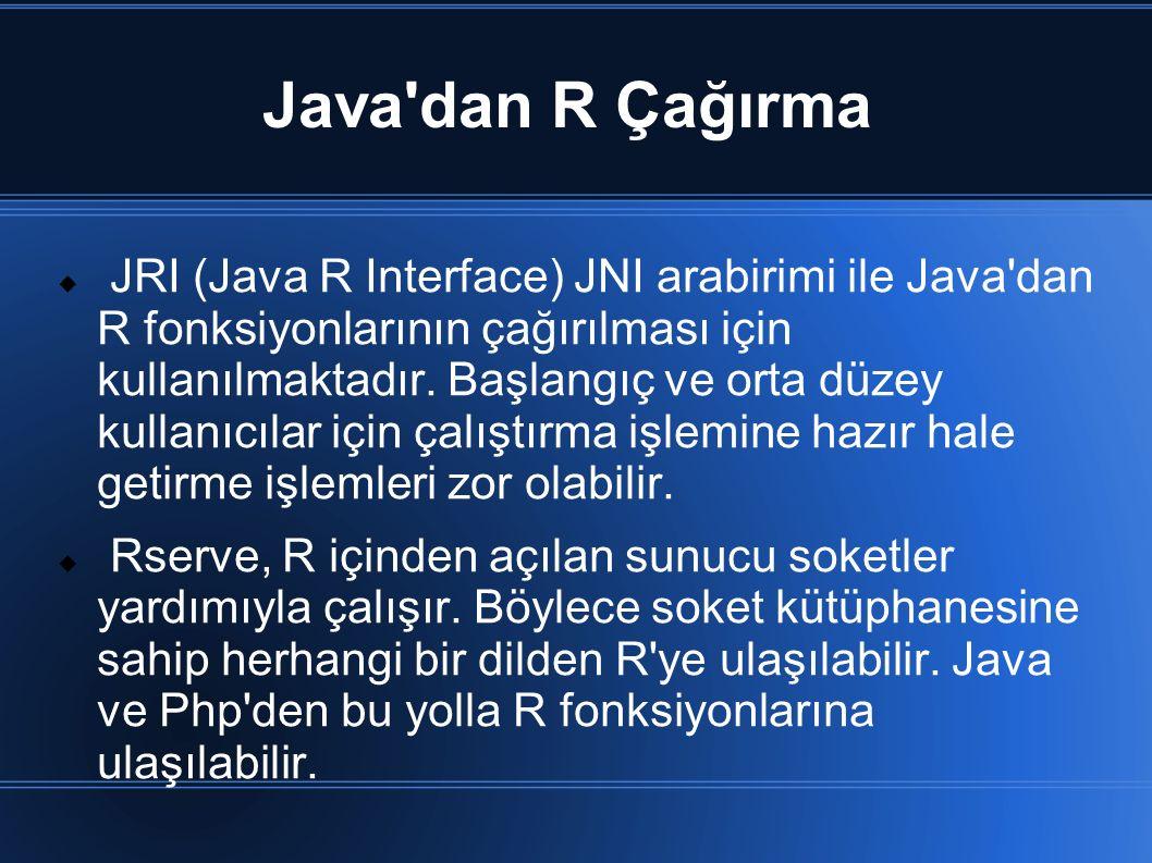 Java dan R Çağırma