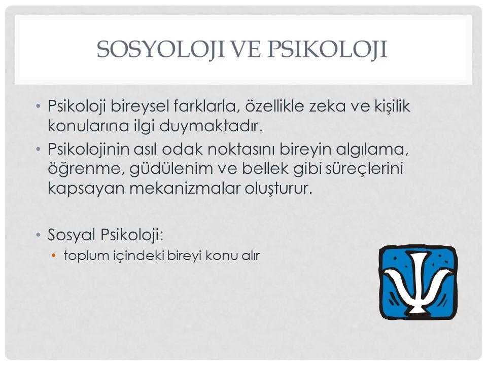 Sosyoloji ve Psikoloji