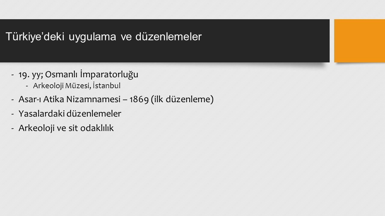 Türkiye'deki uygulama ve düzenlemeler