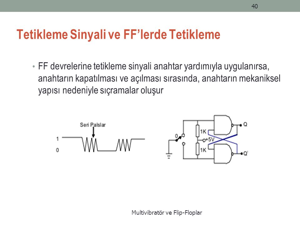 Tetikleme Sinyali ve FF'lerde Tetikleme