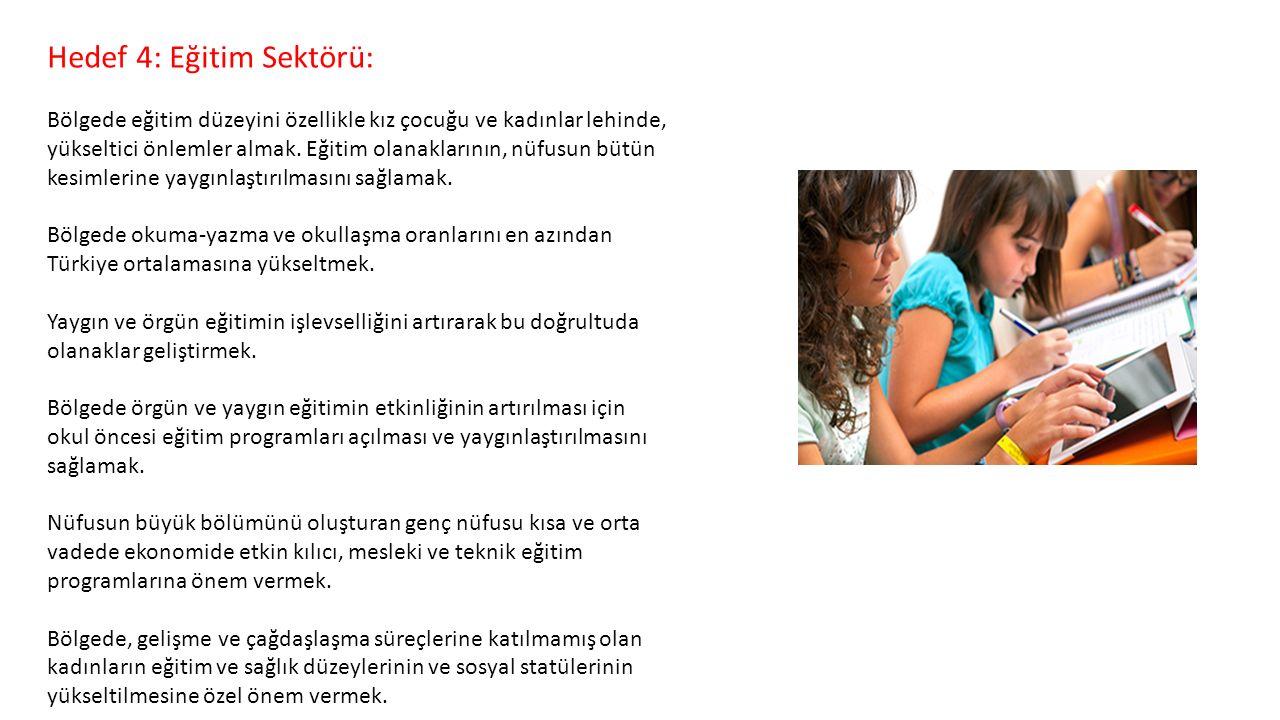 Hedef 4: Eğitim Sektörü: