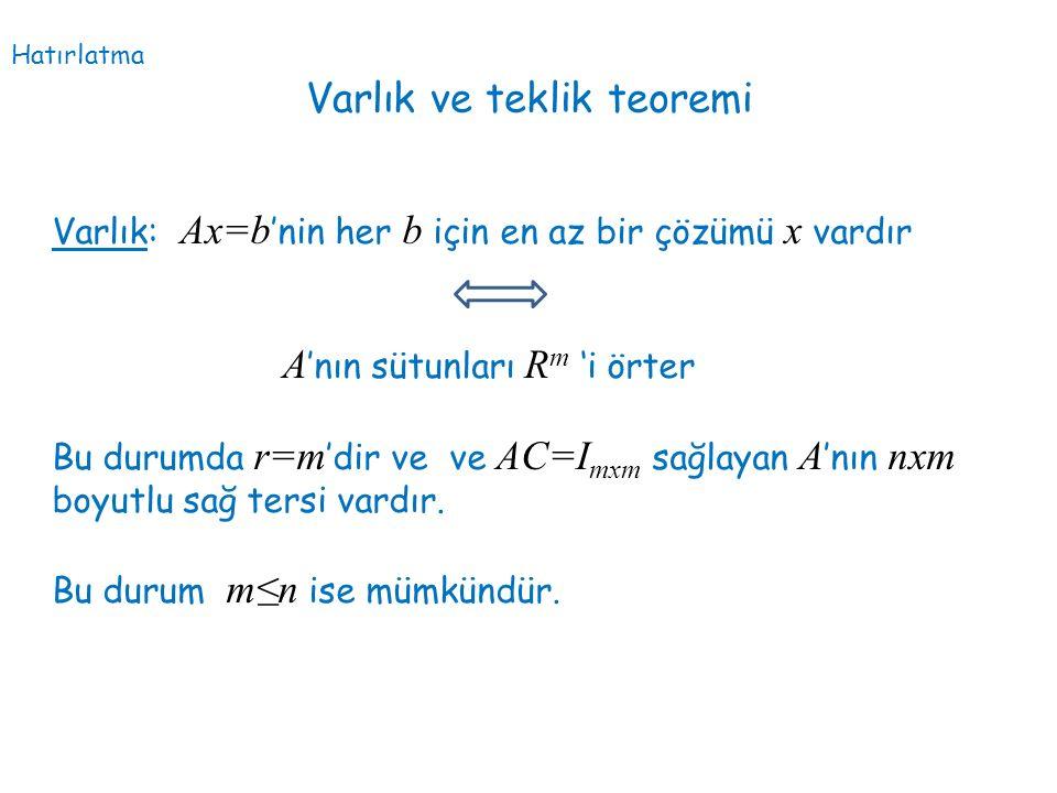 Varlık ve teklik teoremi