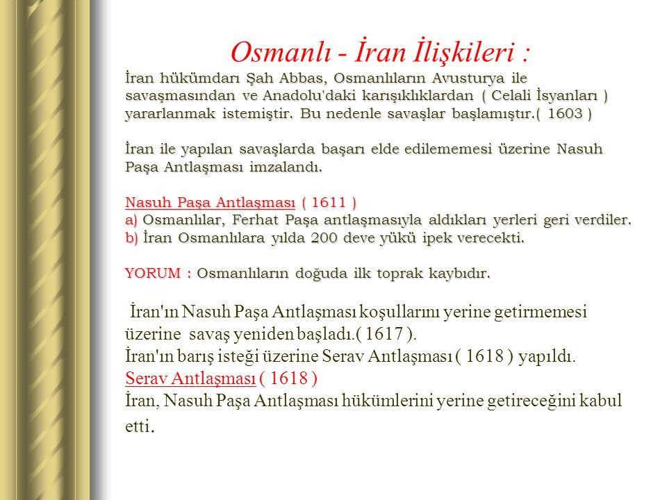 Osmanlı - İran İlişkileri :