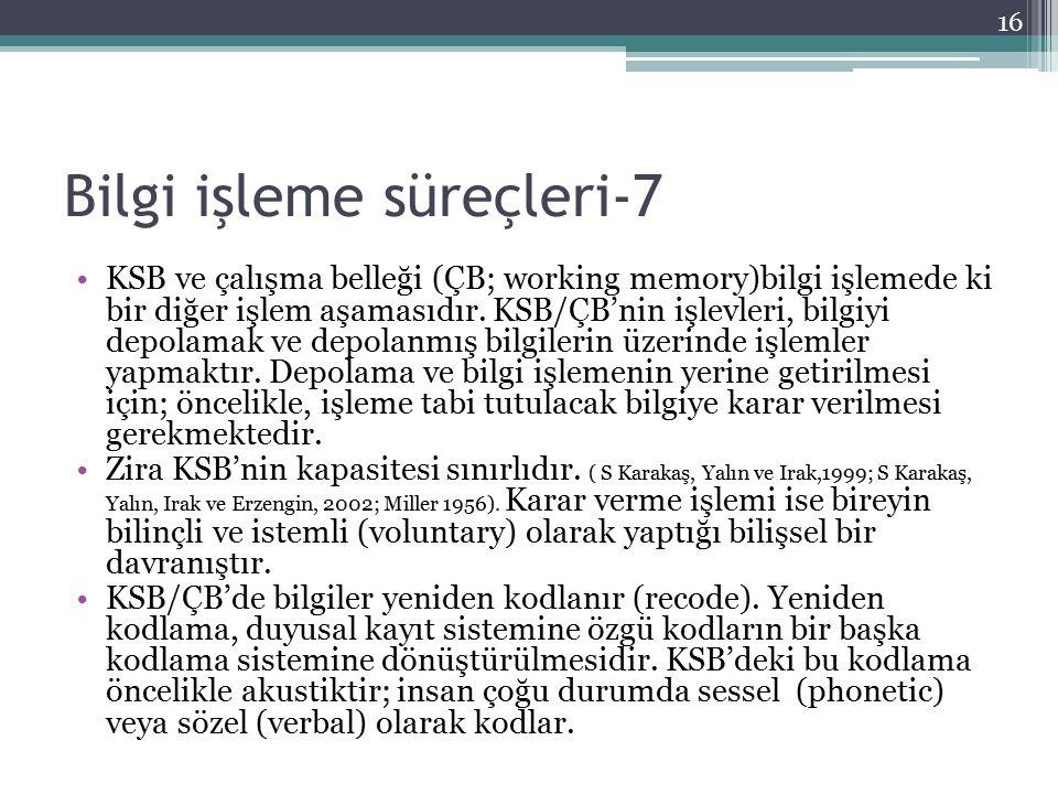 Bilgi işleme süreçleri-7