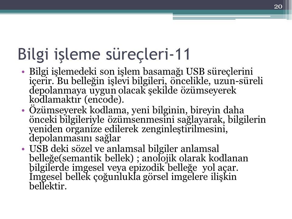 Bilgi işleme süreçleri-11