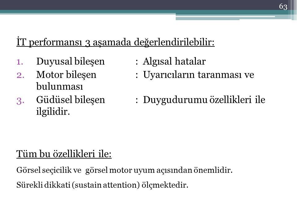 İT performansı 3 aşamada değerlendirilebilir: