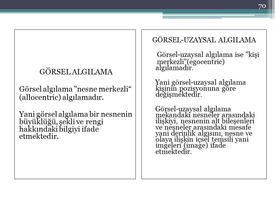 GÖRSEL-UZAYSAL ALGILAMA