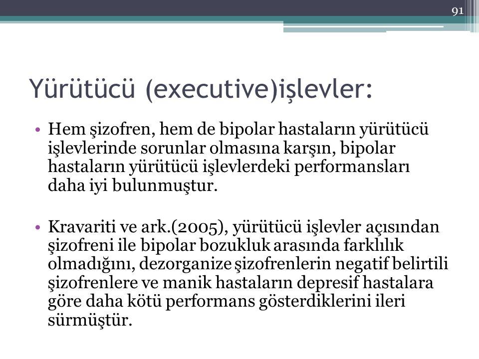 Yürütücü (executive)işlevler: