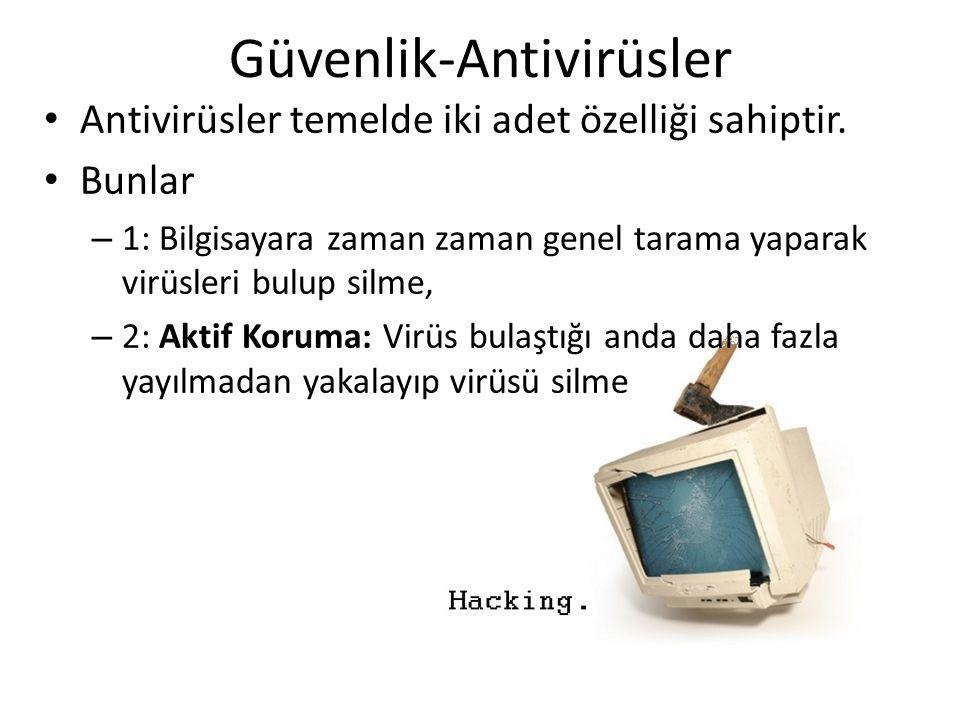 Güvenlik-Antivirüsler