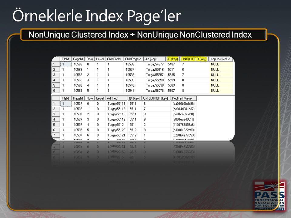 Örneklerle Index Page'ler