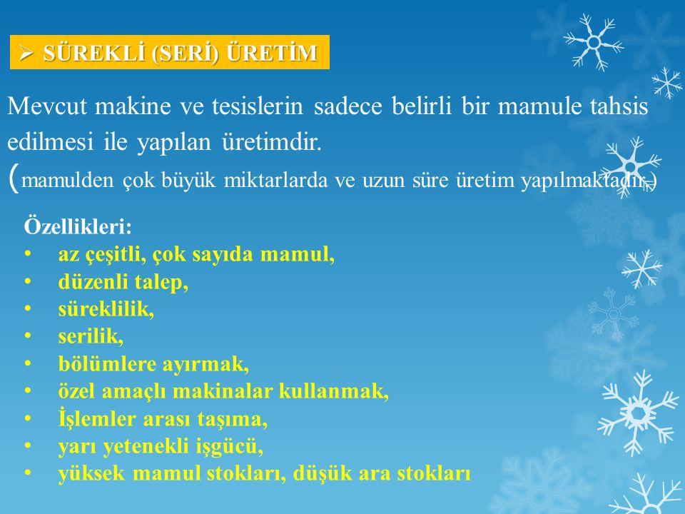 SÜREKLİ (SERİ) ÜRETİM