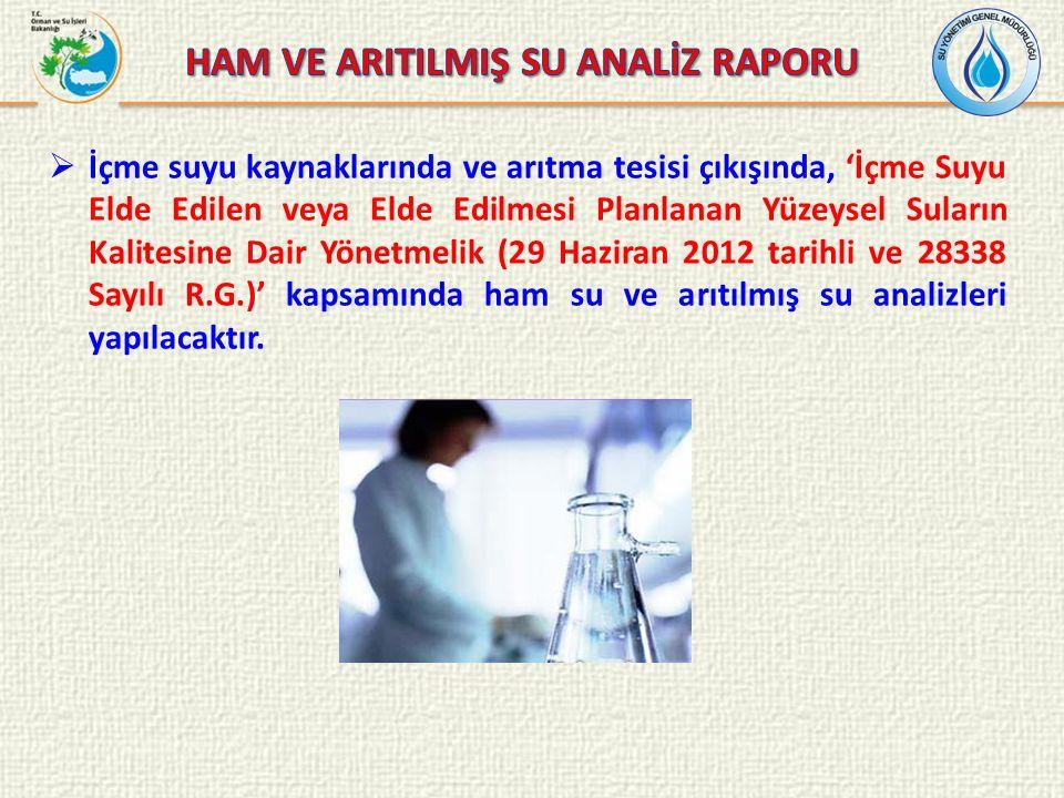 HAM VE ARITILMIŞ SU ANALİZ RAPORU