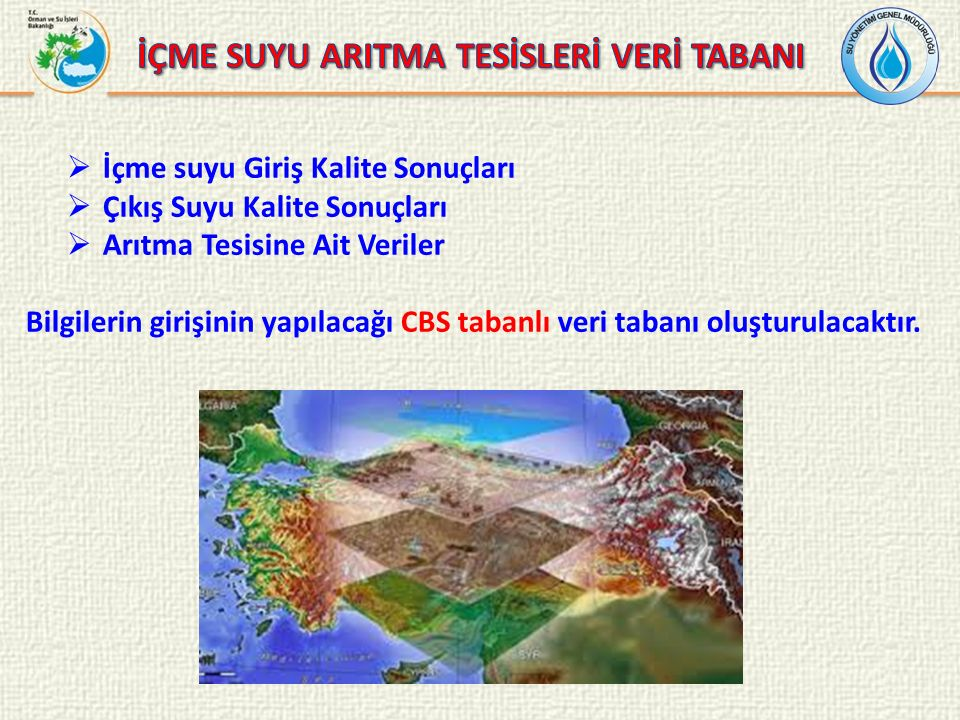 İÇME SUYU ARITMA TESİSLERİ VERİ TABANI
