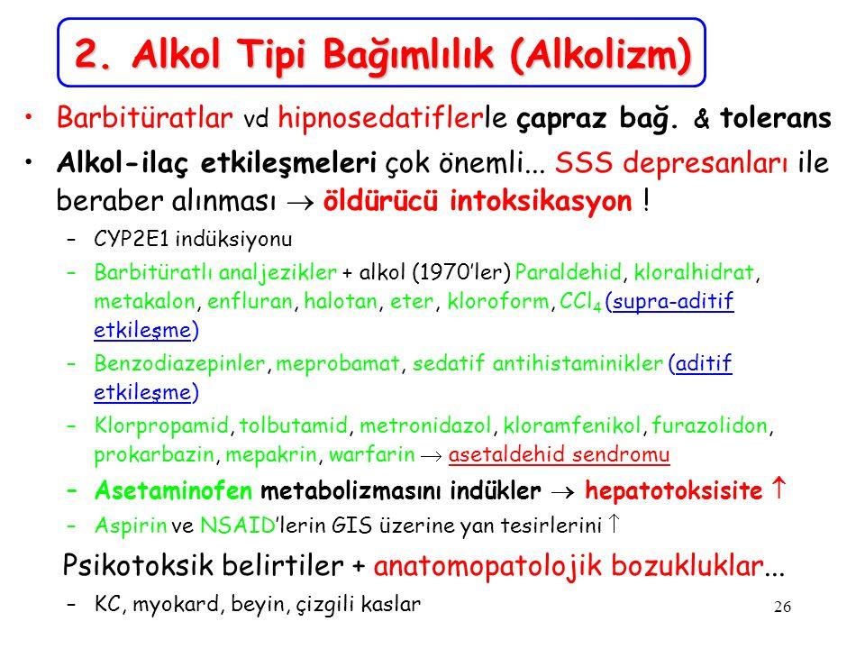 2. Alkol Tipi Bağımlılık (Alkolizm)