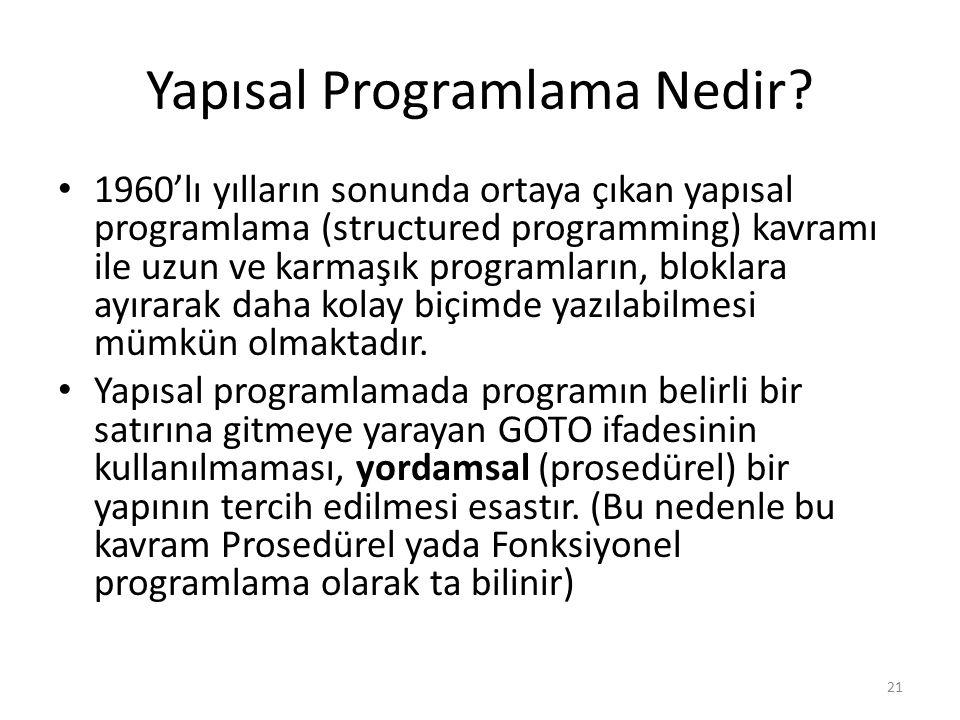 Yapısal Programlama Nedir