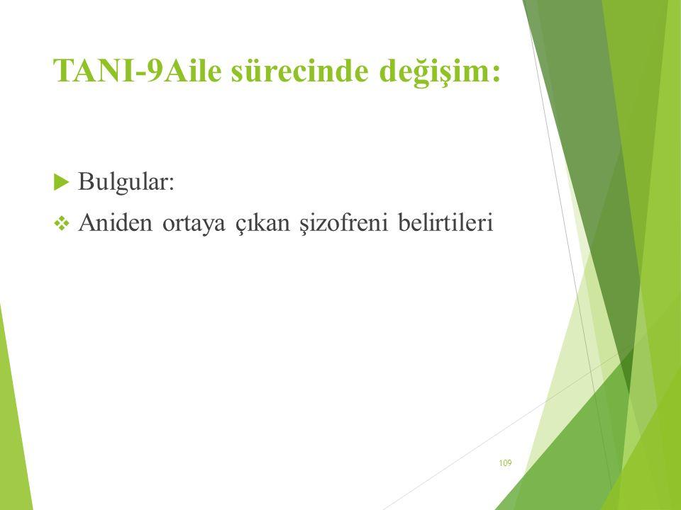 TANI-9Aile sürecinde değişim: