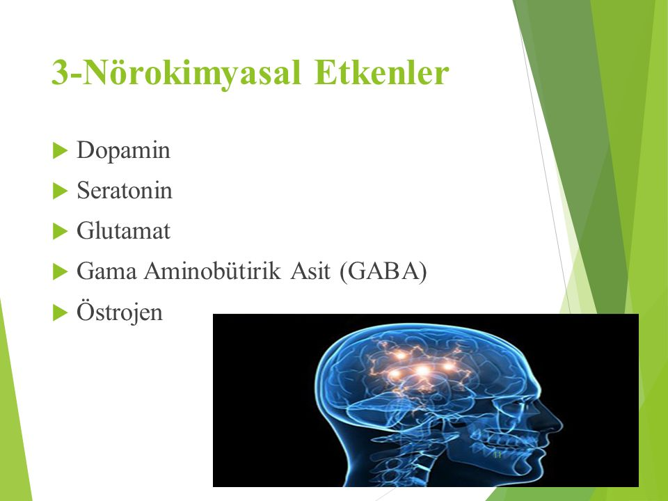 3-Nörokimyasal Etkenler