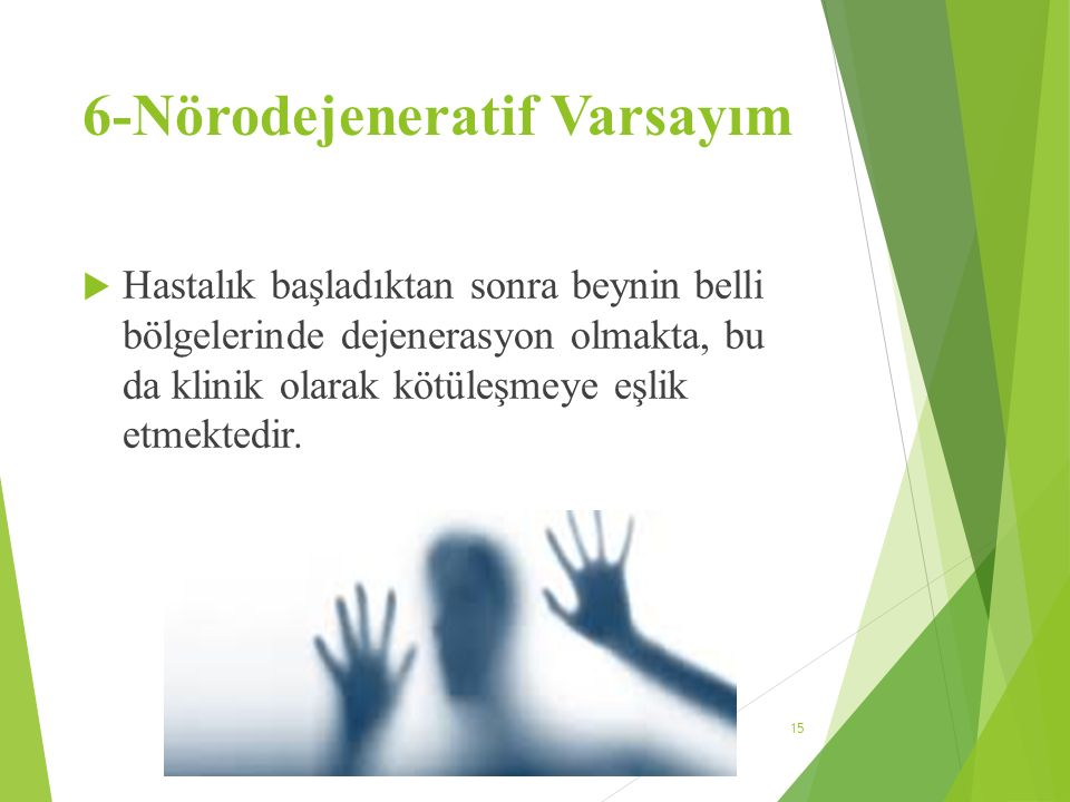 6-Nörodejeneratif Varsayım