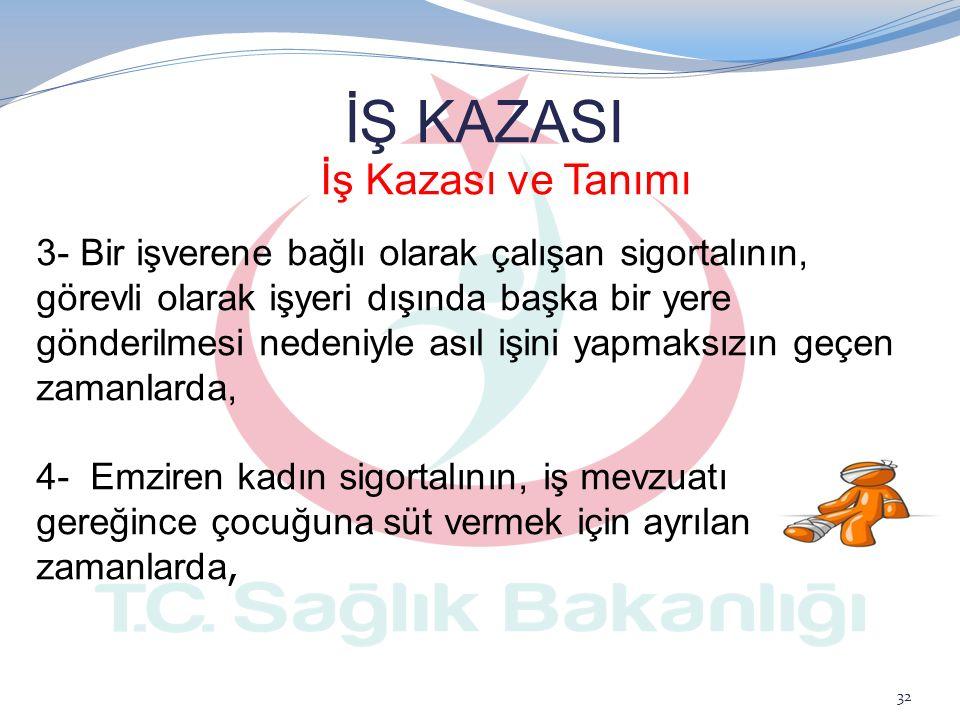 İŞ KAZASI İş Kazası ve Tanımı