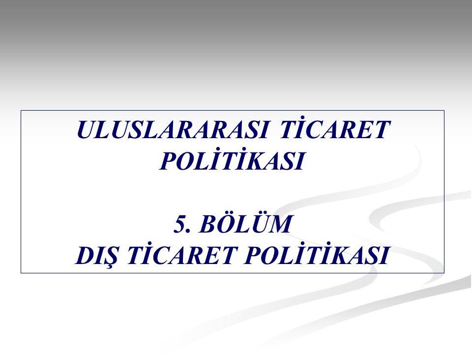 ULUSLARARASI TİCARET POLİTİKASI DIŞ TİCARET POLİTİKASI
