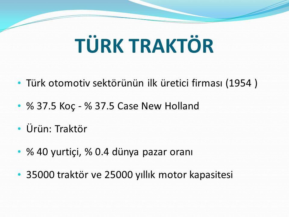 TÜRK TRAKTÖR Türk otomotiv sektörünün ilk üretici firması (1954 )
