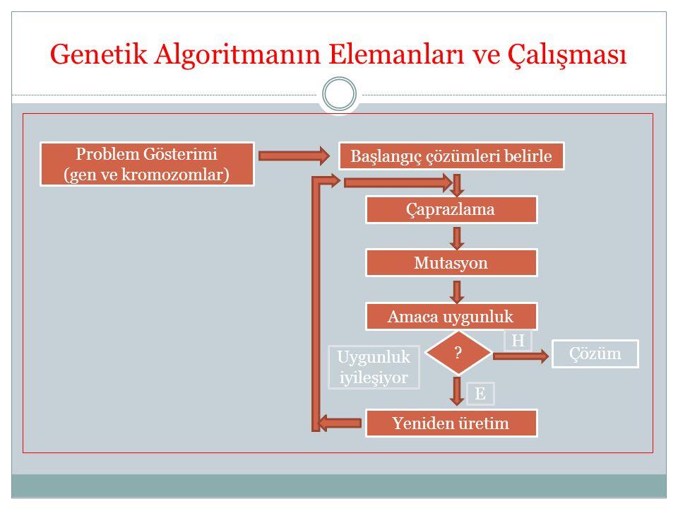 Genetik Algoritmanın Elemanları ve Çalışması