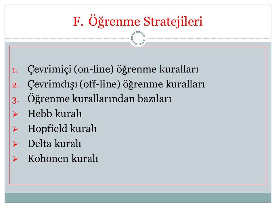 Öğrenme Stratejileri Çevrimiçi (on-line) öğrenme kuralları