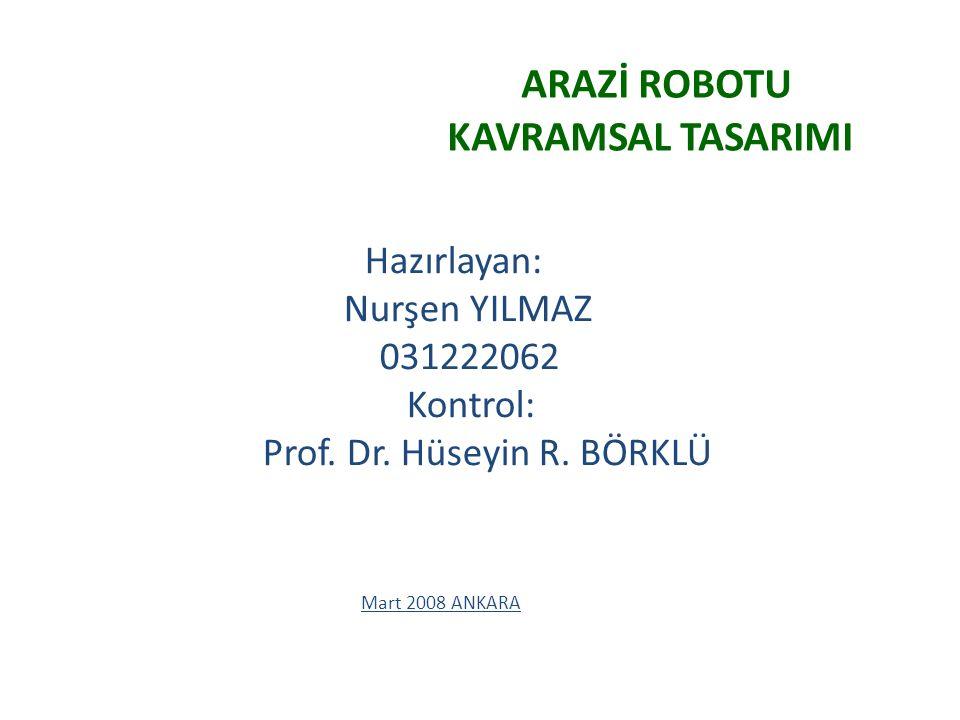 ARAZİ ROBOTU KAVRAMSAL TASARIMI