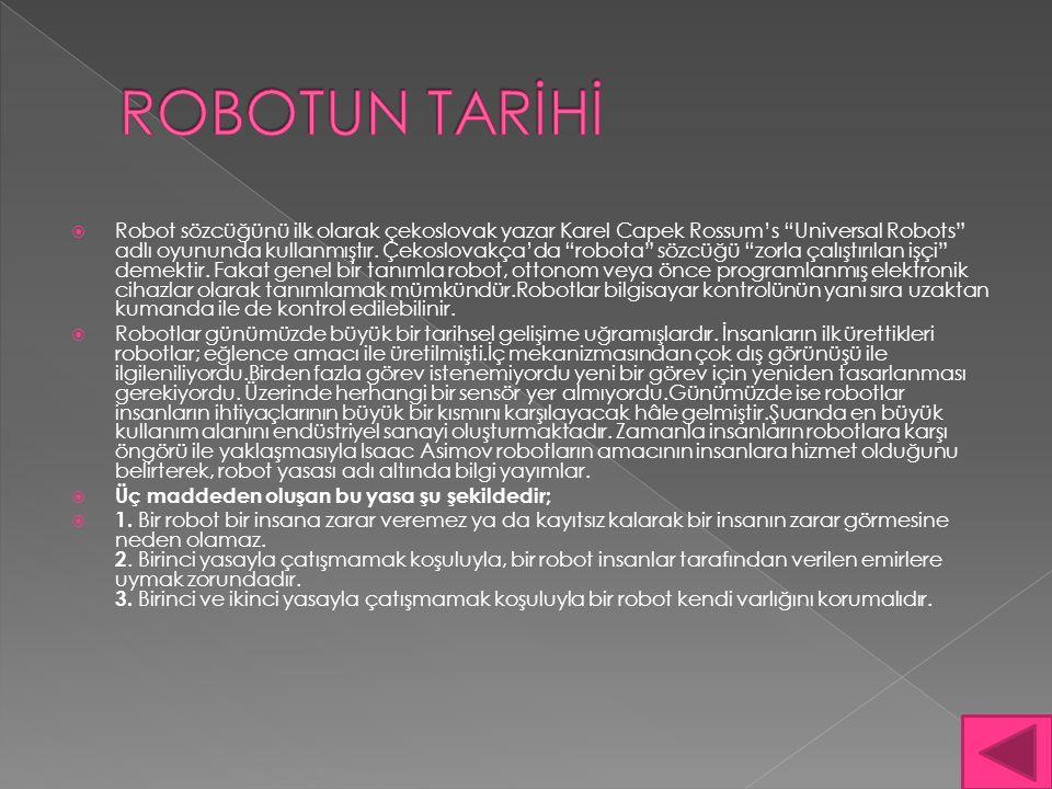 ROBOTUN TARİHİ