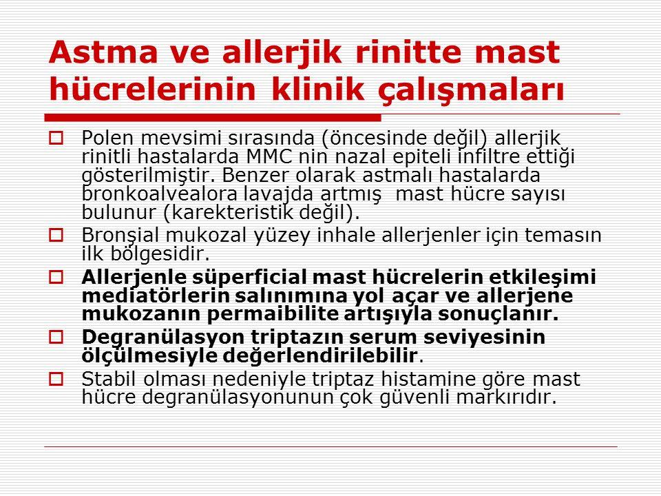 Astma ve allerjik rinitte mast hücrelerinin klinik çalışmaları