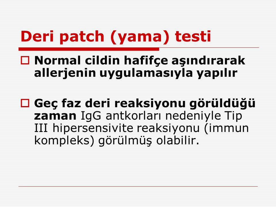 Deri patch (yama) testi