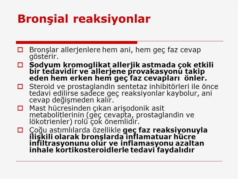 Bronşial reaksiyonlar