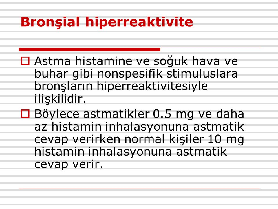 Bronşial hiperreaktivite